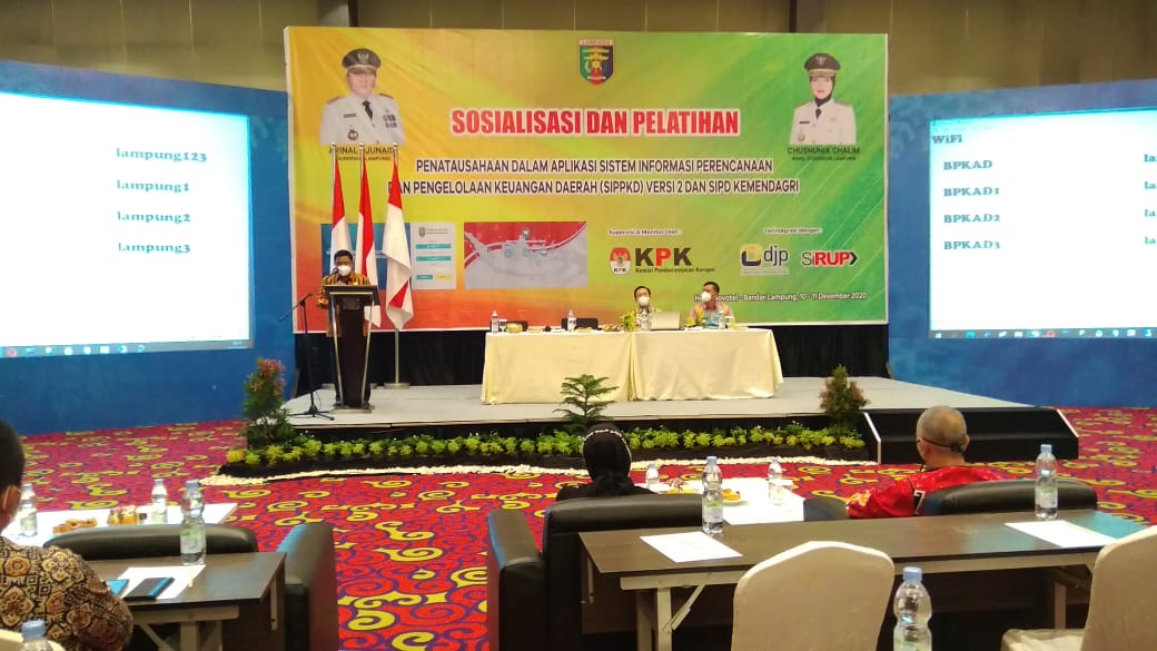 BPKAD Lampung Gelar Sosialisasi dan Pelatihan Aplikasi SIPPKD versi 2 Dalam APBD 2021