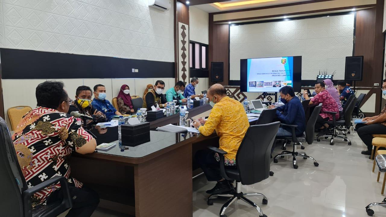 Pembahasan Renja 2022 Diskominfotik Prov. Lampung di Bappeda Prov. Lampung